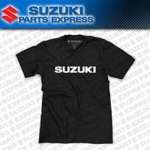 NEW GENUINE SUZUKI BLACK LOGO TEE T-SHIRT GSXR 600 750 1000 MOTO MX 990A0-16243