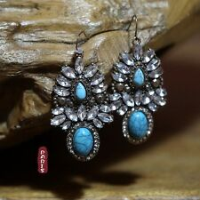 orecchini Blu Turchese Vintage Stile Originale Matrimonio Regalo BB 2