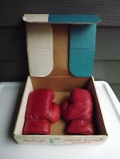 Vintage Junior Leather Boxing Gloves by Sportcraft Iob Size 4