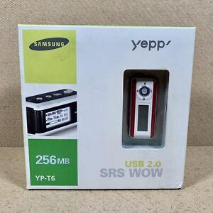 Samsung Yepp YP-T6 256MB Red MP3 Player FM Radio Digital Audio Player - New