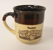 1989 Hardee's Rise and Shine Breakfast Restaurant Advertising Coffee Mug B78