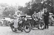 FOTO 1932 WIEN RATHAUSPLATZ MIZZI HEISSIG PUCH 500 ANNI HALLER MATCHLESS SKORPIL
