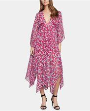 NWT $398 BCBG MAXAZRIA sz M Floral Dress Beautiful Lipstick Red Combo