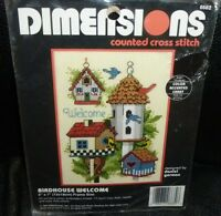 Dimensions Birdhouse Neighbors Counted Cross Stitch Kit 1997 #7875 Unopened