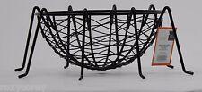 Halloween Metal Black Spider Web Candy Bowl 8 W x 4 H x 12 D NWT