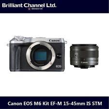 Canon EOS M6 Kit EF-M 15-45mm IS STM 相機連鏡頭套裝【銀色】- 平行進口產品