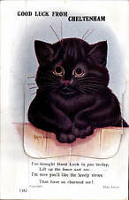 Louis Wain Cat. Good Luck from Cheltenham Pull-Out # 1387 by Valentine's.