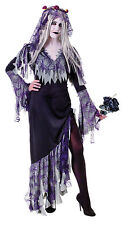Adult Ladies Zombie Bride Halloween Corpse Undead Fancy Dress Costume Outfit