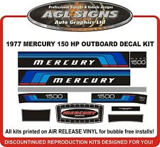1977 MERCURY 150 HP OUTBOARD MOTOR DECAL SET, 1500 REPRODUCTIONS 115 1150