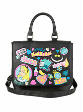 Alice in Wonderland Saddle Bag Black Mad Hatter Queen Cheshire Disney Loungefly