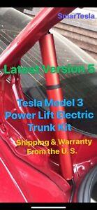 Power Lift Electric Trunk~V5 Tesla Model 3 (Titanium Red/Gray Struts) 2017-2020