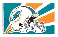 Miami Dolphins 3x5 Flag - Helmet Design [New] Nfl Banner Sign Fan Wall Cave