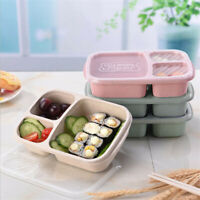 Meal Prep Containers 3 Compartments Lunch Boxes Food Fruit Storage with Lid