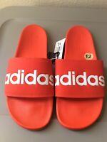 NEW Adidas Mens Red Adilette Comfort Slides US 12 Beach Sandals Slippers