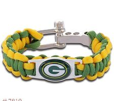 Green Bay Packers Paracord Bracelet Football Military Spec 550 QUALITY FAST SHIP