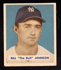 1949 BOWMAN #129 BILL 'THE BULL' JOHNSON YANKEES