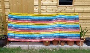 Vintage Retro Striped Multicolour 1970s Wind Break for Beach Holiday or Festival