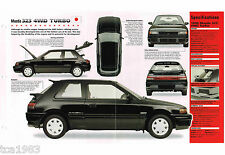 MAZDA 323 4 Wheel Drive TURBO SPEC SHEET/Brochure/Catalog: 1989,1990,1991,...4WD