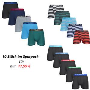 10er Pack Herren Boxer Short Retro Shorts Baumwolle Unterwäsche M L XL XXL
