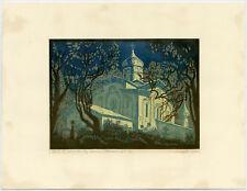 Original Print-CHURCH-RUSSIAN ORTHODOX-MELETOVO-Honoba-1990