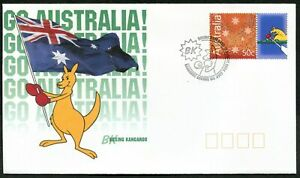 Boxing Kangaroo Rowing 2004 FDC First Day Cover