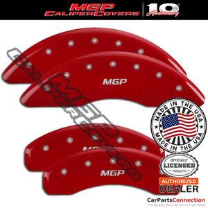 MGP Caliper Brake Cover Red 15210SMGPRD Front Rear For Audi A8 Quattro 2008-2009
