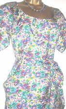 Silk Round Neck Floral Regular Size Dresses for Women