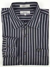 Façonnable Shirt XL Black Mens Striped Multicolor Size Cotton Sz Purple Silver