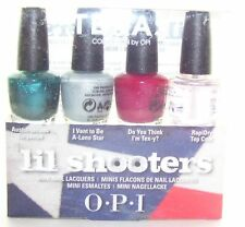 OPI NAIL POLISH Texas Lil Shooters MINI SET 3.75ml NL T14 T16 T17 + RapiDry Top