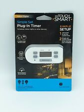 myTouchSmart 36253 Indoor Digital Timer Plug-In w/1 Polarized Outlet-White