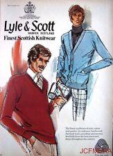 1977 'LYLE & SCOTT' Scottish Knitwear Advert #2 - Original Fashion Print AD