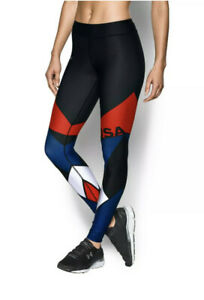 Under Armour Women's UA Heatgear Armor USA Legging Black Size XS 1271804 New K21
