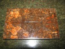 PREMIUM ACRYLIC STABILIZED DOUBLE-DYED MAPLE BURL 5-1/8x1-9/16x3/8  KNIFE SCALE