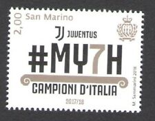 2018 San Marino Juventus Champions D'Italia 2017/2018 1 Valeur MNH