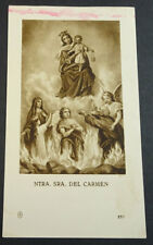 OLD BLESSED OUR LADY OF MOUNT CARMEL HOLY CARD ANDACHTSBILD SANTINI       CC2108