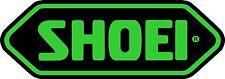SHOEI stickers - 2 x Black + Green High Gloss Gel Finish - 105mm x 37mm