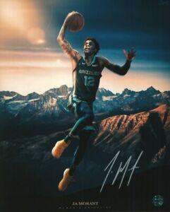 Ja Morant Autographed 8X10 Photo COA NBA Pro Basketball Player Memphis Grizzlies