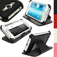 PU Leather Stand Flip Case Cover Holder for Samsung Galaxy Ace 3 S7275 S7270