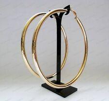 """4"""" ORECCHINI CERCHI OVERSIZE GRANDE MODA D'ORO SPESSA 10cm Plain cerchi di metallo"""
