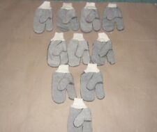 Lot of (10) Pairs Men's Forefinger Lined Hybrid Mittens / Gloves finger shooting