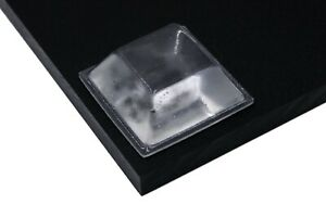 24 x LARGE Transparent Square Adhesive Bumpers Bumpons UK STOCK FREE POSTAGE
