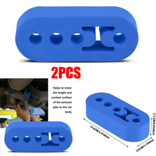 Car Exhaust Pipe Tip Mount Hanger Rubber Bracket 10mm 4 Holes Replacement Blue