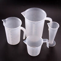 4 Sizes Plastic Measuring Jug Cup Graduated Surface Cooking Bakery Kitchen