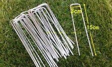 50 xArtificial Grass Turf U Pins Galvanised Metal Pegs Mesh Mat Staples