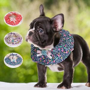 Floral Pet Cat Dog Bandana Collar for Girl Dogs Soft Cotton Neckerchief Scarf