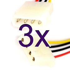 [ 3 Pack ] 50cm Power Cable de extensión 4 Pines Lp4 Molex Macho A Hembra [ 005778 ]