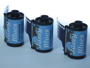 3 Rolls Ultrafine Jazzy Blues Experimental Color Print Film 35mm x 36 Exp C-41