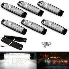 6x Waterproof 6LED White Van Truck Trailer Boat Side Marker Indicators Light 12V