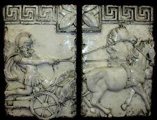 Roman Chariot Wall Plaque 2 Piece Home Art Decor