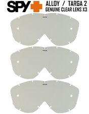 Spy Alloy / Targa 2 Motocross Mx Goggle Reemplazo Gs claro Lentes X 3